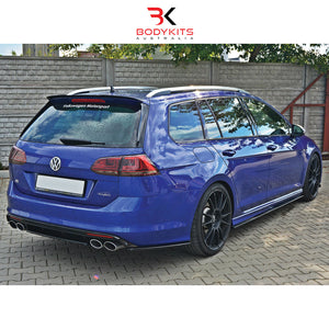REAR CENTRAL SPLITTERS VW GOLF MK7 R WAGON PRE-FACELIFT (2012+)