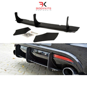 REAR DIFFUSER & REAR SIDE SPLITTERS VW SCIROCCO R PRE-FACELIFT (2009-2013)