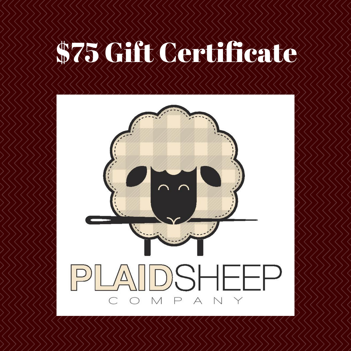 Gift Certificates: $75