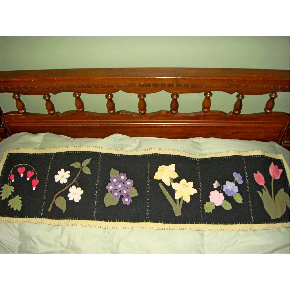Spring Blossoms Bed Runner