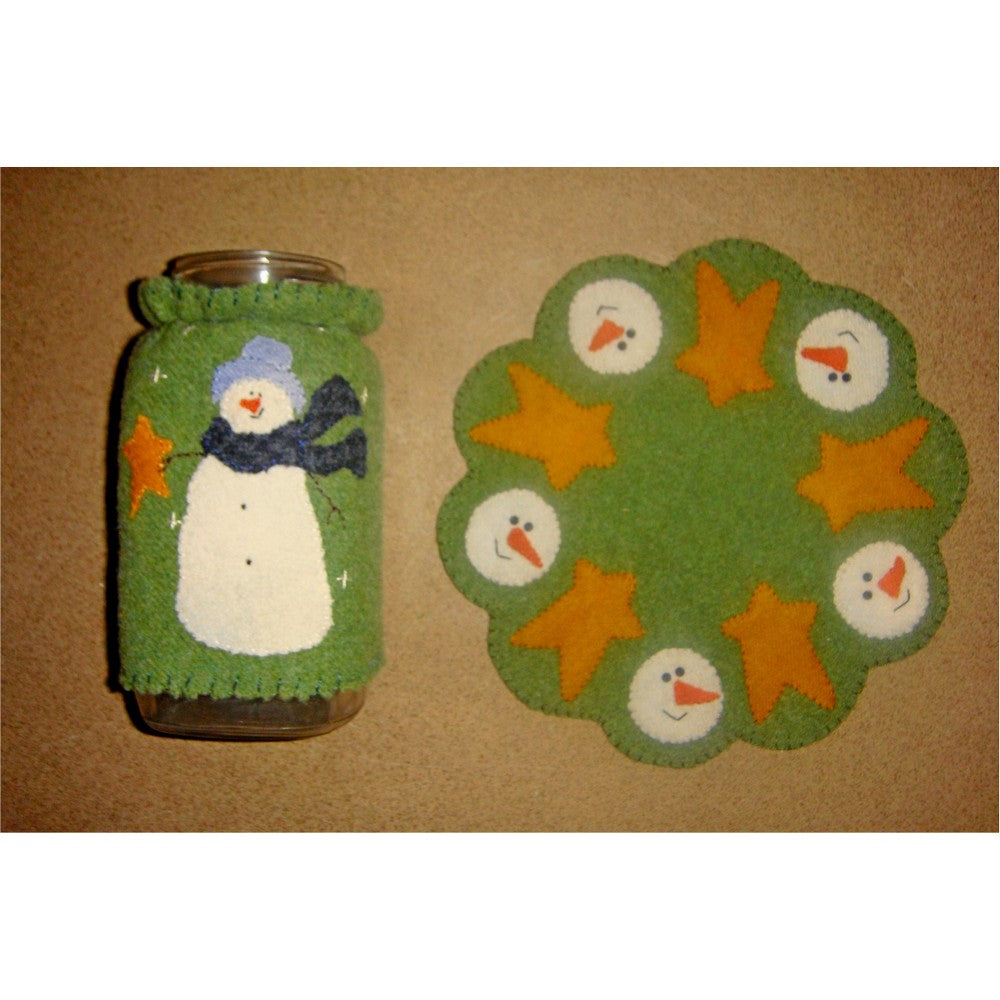 Frosty's Jar Cozy & Candle Mat