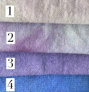 Purple Hand-Dyed Wool #1-4