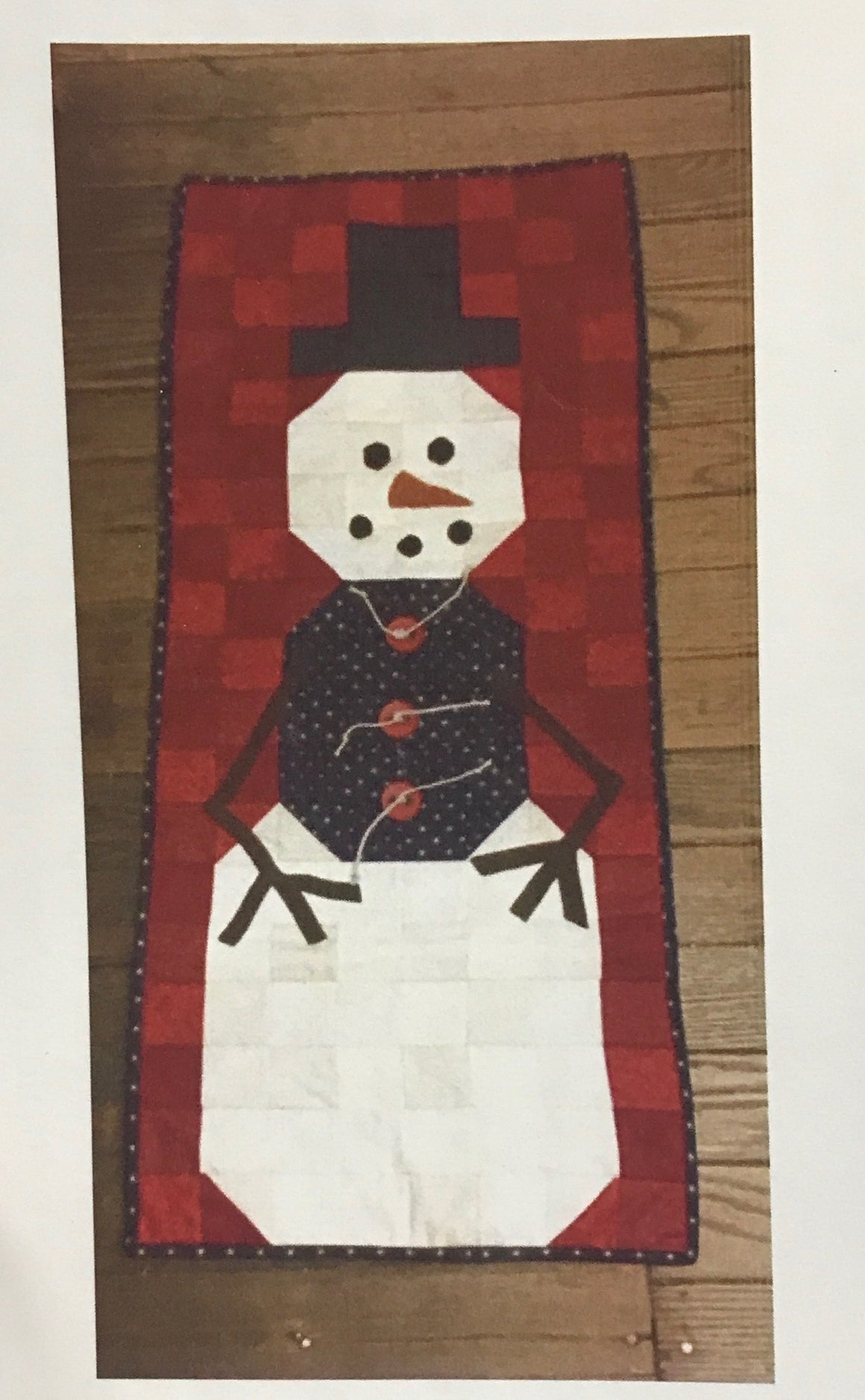 Quilt-as-you-go Snowman