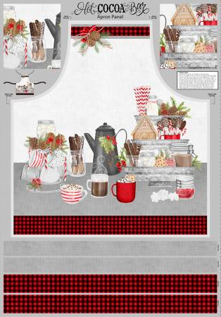 Multi Hot Cocoa Bar Apron Panel