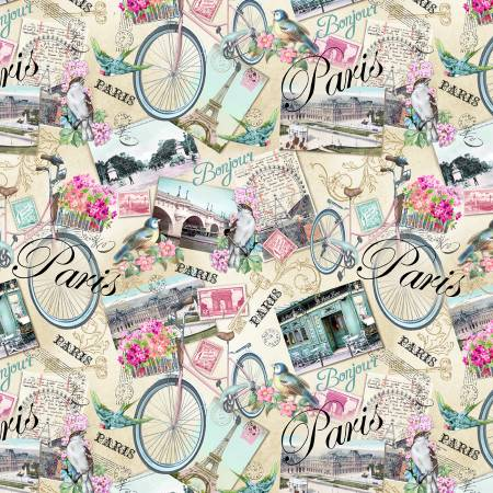 Multi Paris Postcards