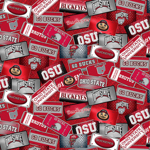 NCAA-Ohio State Buckeyes License Plate Cotton # OHS-1210