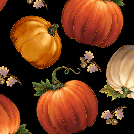 Tossed Pumpkins Black