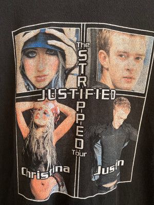 The Stripped/Justified Tour tee sz XL