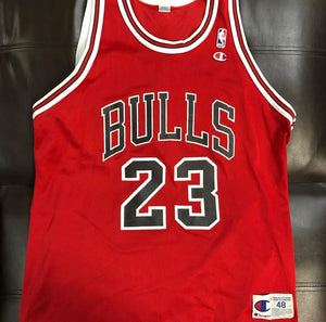 Michael Jordan Chicago Bulls Champion Jersey sz 48
