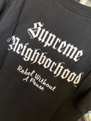 Supreme Neighborhood Skull Box Logo tee sz M