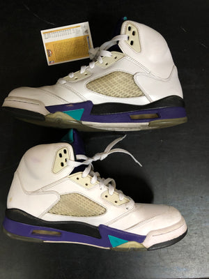 Air Jordan 5 Retro Grape 2013 sz 9.5