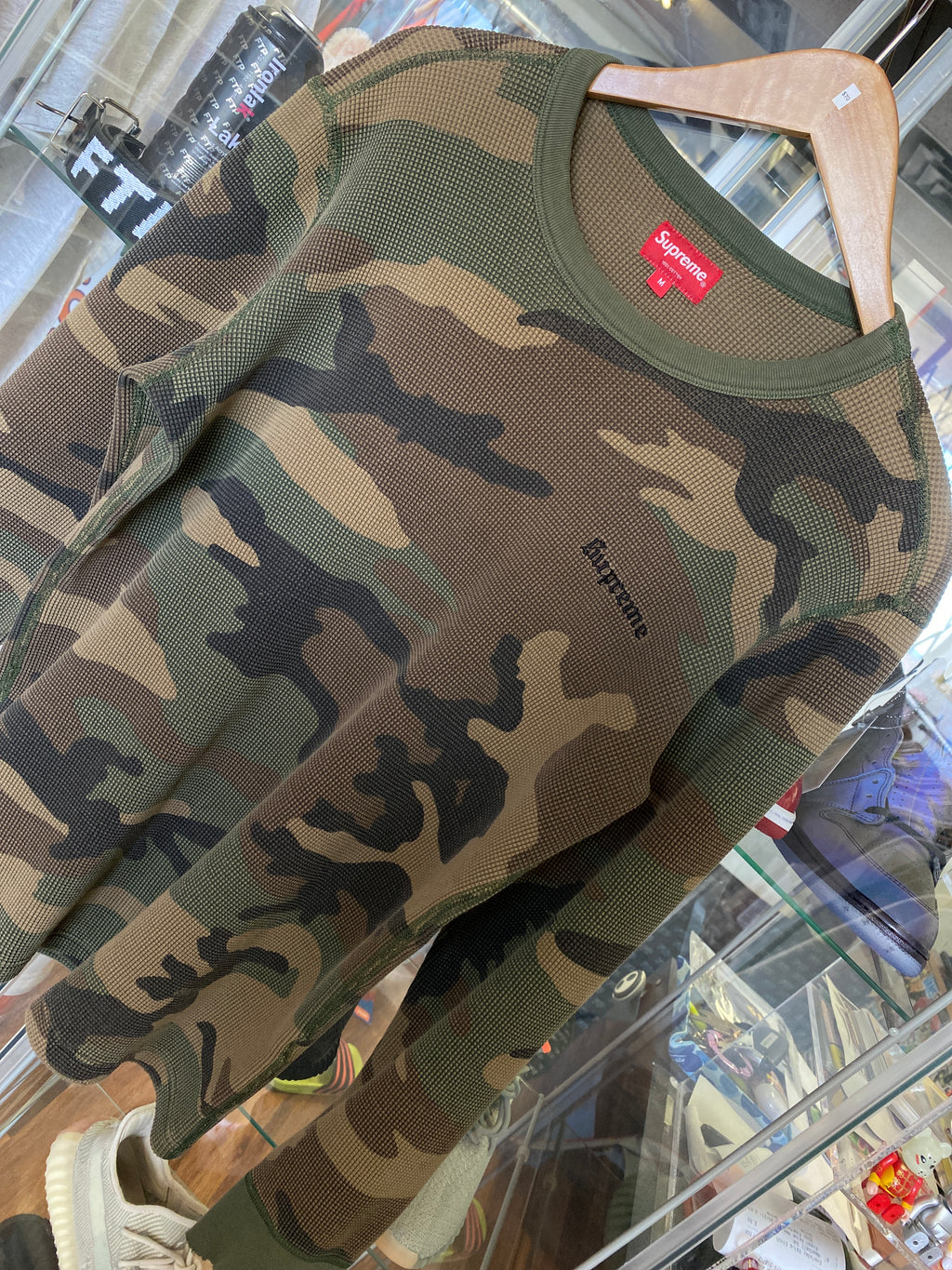 Supreme Camo thermal long sleeve sz M