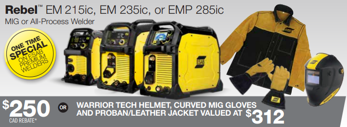 ESAB Rebel Burn and Earn Promotion