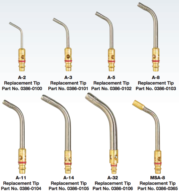 TurboTorch Extreme Air Acetylene Replacement Tips