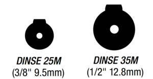 Dinse 25, 35 Measurements