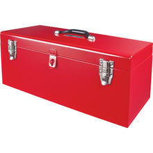 "21"" Portable Red Metal Tool Box"
