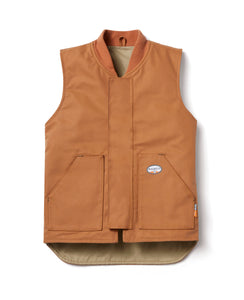 rasco fr, brown cotton duck vest