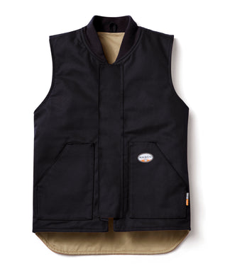 rasco fr, black cotton duck vest