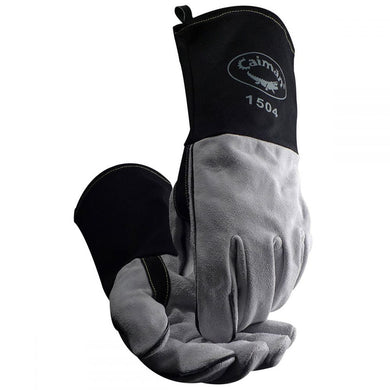 Caiman 1504 - Cow Split FR Cotton Cuff MIG/Stick Welding Gloves
