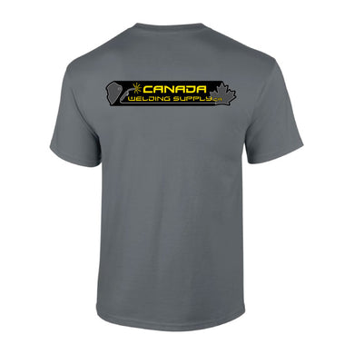 canada welding supply grey t-shirt back