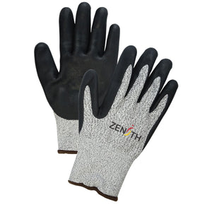 Cut Resistant Level A4 - HPPE Foam Nitrile Coated Acrylic Lined Gloves