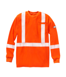 rasco fr, Hi viz long sleeve shirt, orange
