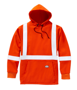 rasco fr, hi viz hoodie sweater, orange