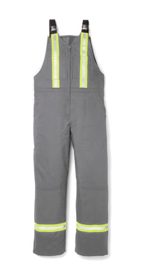 rasco fr, overalls, reflective trim, grey