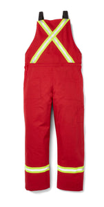 rasco fr, overalls, reflective trim, red, reverse