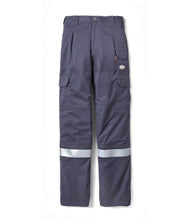rasco fr, field pants, reflective trim, charcoal