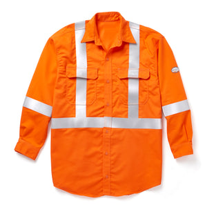 rasco fr, hi viz uniform shirt, orange