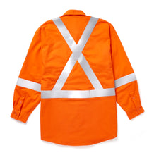 rasco fr, hi viz uniform shirt, orange, reverse