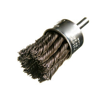 "End Brush 1/4"" Shank - Stainless Steel Knotted Wire"