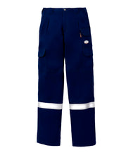 rasco fr, field pants, reflective trim, navy