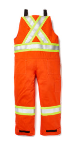 rasco fr, hi viz overalls, unlined, orange, reverse