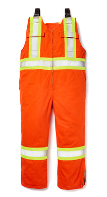 rasco fr, hi viz overalls, unlined, orange