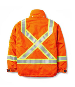 rasco fr, hi viz bomber jacket, orange, reverse
