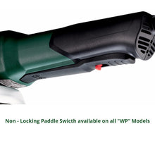 metabo angle grinder, paddle switch