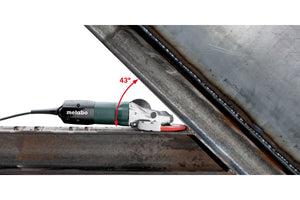 metabo flathead grinder in action