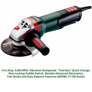 metabo angle grinder, wepba 17-150 quick