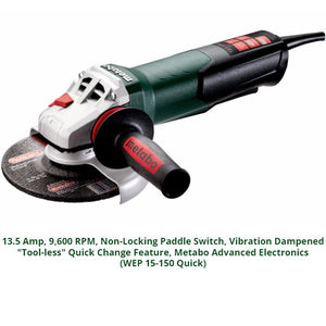 metabo angle grinder, wep 15-150 quick