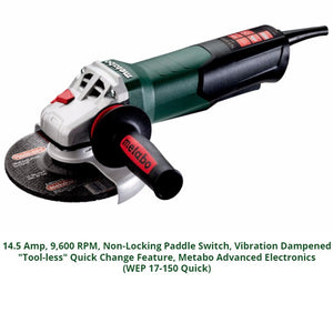 metabo angle grinder, wep 17-150 quick
