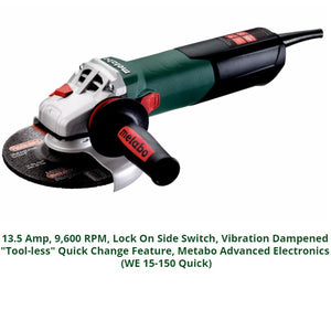 metabo angle grinder, we 15-150 quick