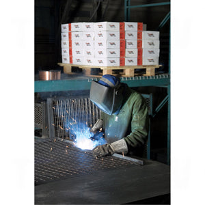 welder using weld-mate mig wire