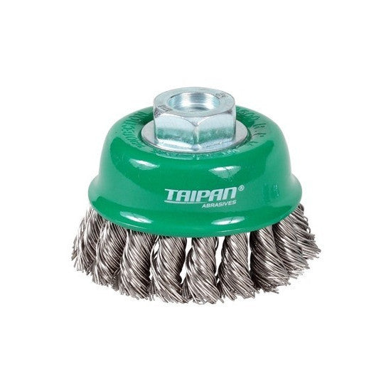 Taipan Stainless Steel Twist Knot Cup Brush