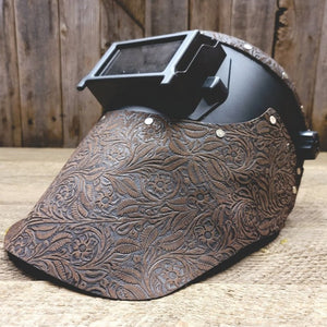 Outlaw Leather Black Flip Front / Brown Floral Leather