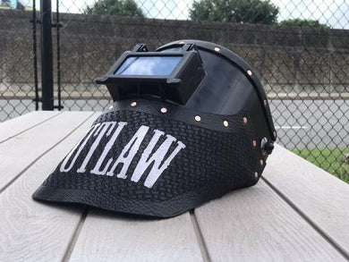 Outlaw Leather Black Tigerhood / Black Basket Weave Leather