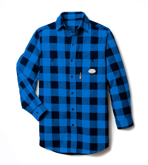 rasco fr, plaid shirt, blue and black