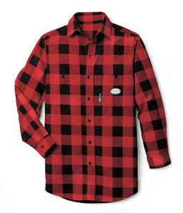 rasco fr, plaid shirt, red and black