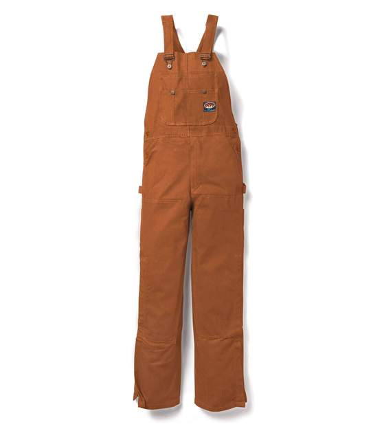 rasco flame resistant brown duck bib overalls